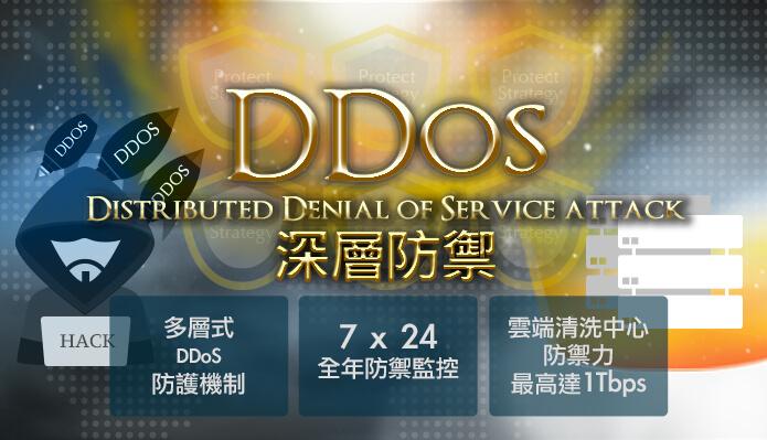 DDoS 金牌防禦虛擬主機上市